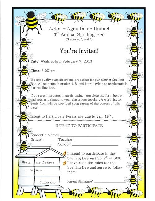 Third Annual Spelling Bee